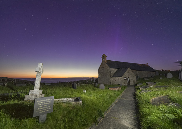 Aurora Borealis seen in Anglesey, UK.