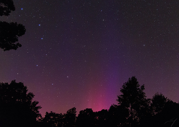 Aurora in Central Virginia