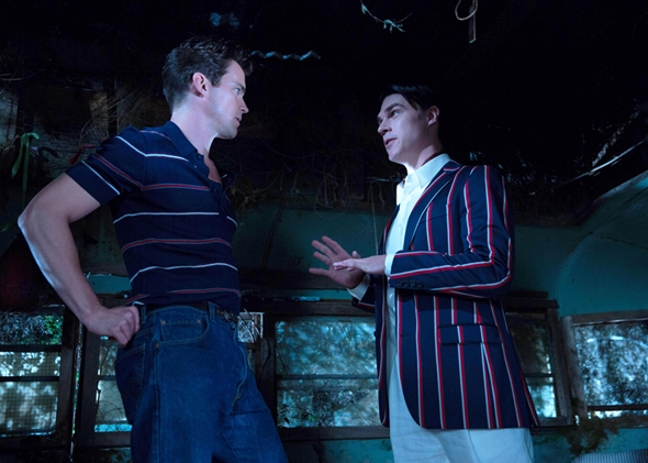 Matt Bomer as Andy and Finn Wittrock as Dandy Mott in American Horror Story: Freak Show