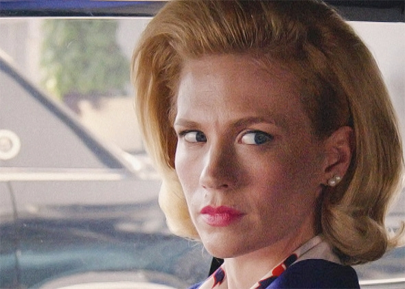 January Jones as Betty Francis in Mad Men.