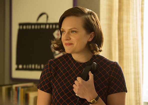 Elisabeth Moss as Peggy Olson in the Mad Men series finale