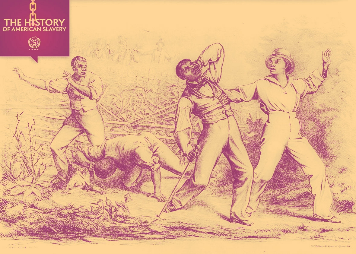 Illustration depicting the Fugitive Slave Law of 1850.