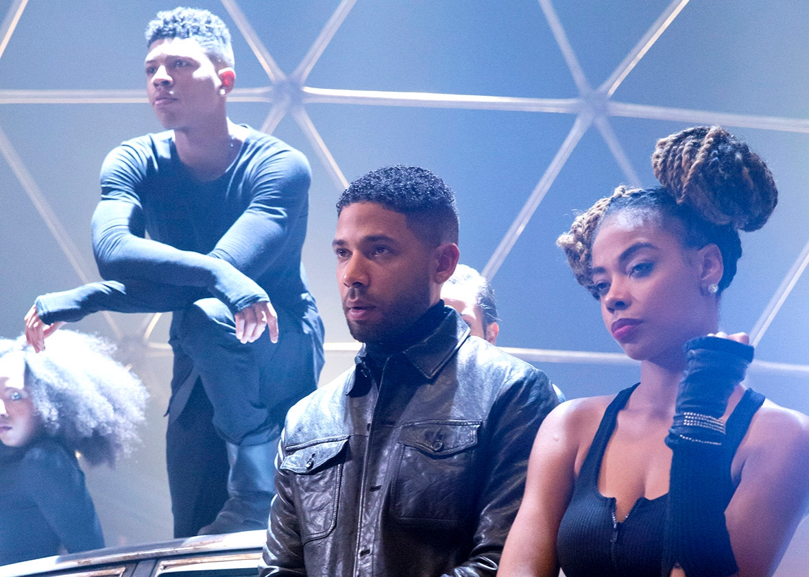 Bryshere Gray as Hakeem Lyon and Jussie Smollett as Jamal Lyon i