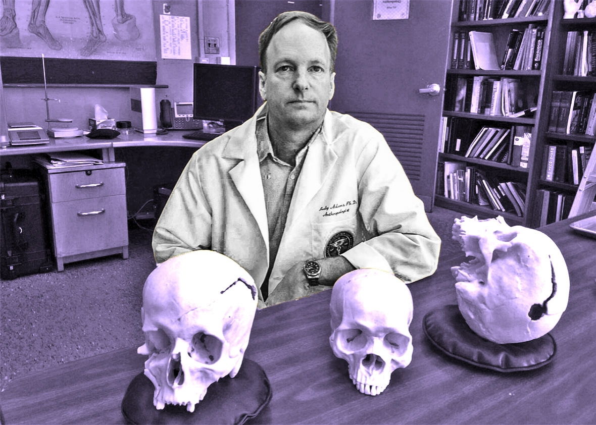 Forensic anthropologist Bradley Adams.