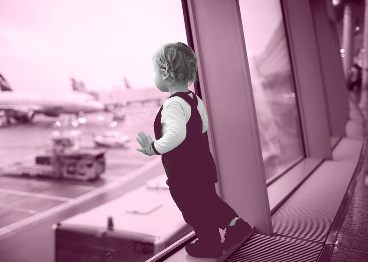 kid at airport.
