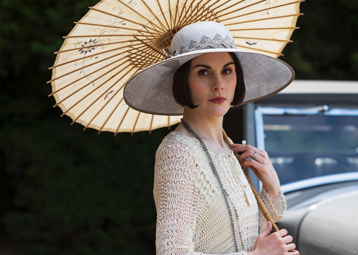Michelle Dockery as Lady Mary.