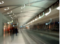 The inside of the Detroit airport and my head
