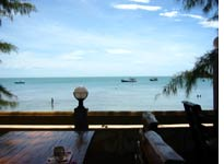 View from the deck of our inn on Ko Samui