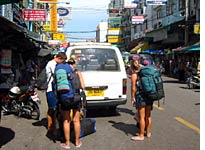 Backpackers on Khao San Road