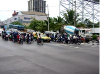 Traffic turned motocross race