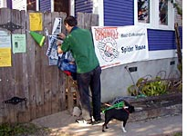 Postering with my baby and dog