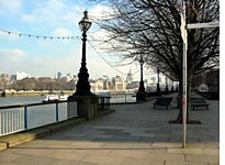 Walking to work along the Thames