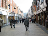 Winchester's main shopping street: not a  mall yet