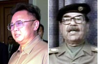 Kim Jong-il and Saddam Hussien