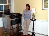 Courtney Carlson and her newly acquired Thermador oven