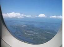 Here we are about to land in sunny Florida