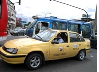 A Colombian taxi cab