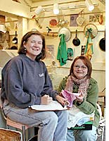 Jo Campbell and Julie Bell discuss starched linens
