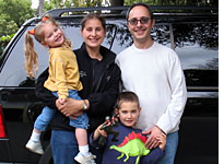 Barry Isaacson with his wife, Jenny, and children, Lena and Nathan