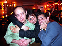 My friends: Todd Barry, Eugene Mirman, Paul F. Tompkins