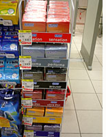 Condoms are now available in an upscale supermarket in Bucharest