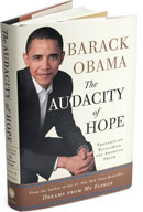 The Audacity of Hope by Barack Obama.