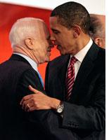 John McCain and Barack Obama. Click image to expand.