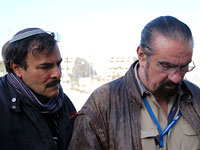 Richard Marcinko (right) and tour guide Yossi Maimon in Jerusalem. Click image to expand.