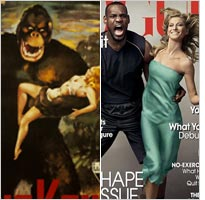 King Kong poster and cover of Vogue. Click image to expand.