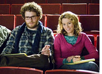 Seth Rogen and Elizabeth Banks in Zack and Miri Make a Porno.