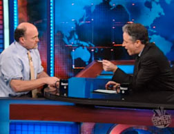 Jim Cramer and Jon Stewart on The Daily Show.