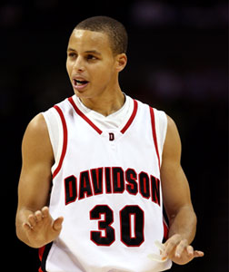 Stephen Curry of the Davidson Wildcats. Click image to expand.