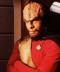 Michael Dorn as Lieutenant Worf.