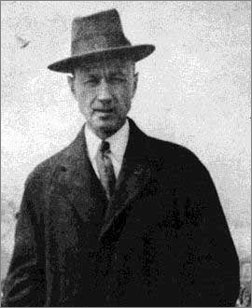 "This photo from around 1913 shows Ives in his ""day job"". He was the director of a successful insurance agency."