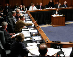 Mark up hearing before the U.S. Senate Finance Committee on Capitol Hill. Click image to expand.