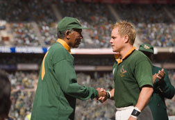 "MORGAN FREEMAN as Nelson Mandela and MATT DAMON as Francois Pienaar in  ""Invictus"". Click image to expand."
