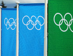 Olympic flags. Click image to expand.