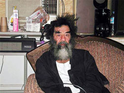 Saddam Hussein in custody. Click image to expand.