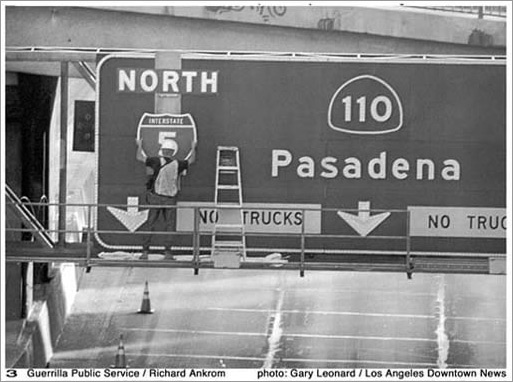 Pasadena sign.