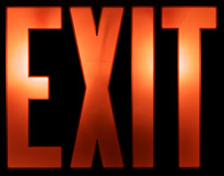 A classic American exit sign. Click image to expand.