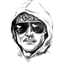 Sketch of the Unabomber from witness memory.