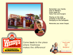 The fake Wendy's ad used by Loftus, 2006. Click image to expand.