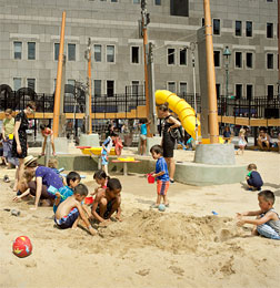 "Photograph of David Rockwell's ""Imagination Playground"" in lower Manhattan."