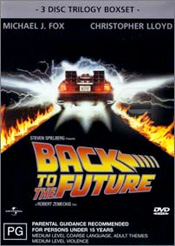 Back To The Future DVD cover.