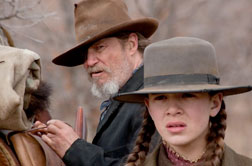 "Still of Jeff Bridges and Hailee Steinfeld in ""True Grit."""