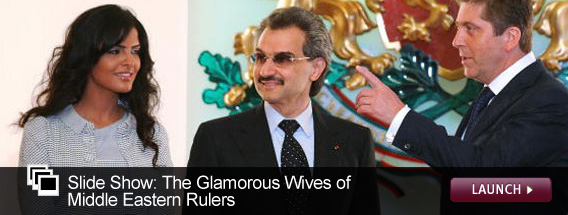 Click here to launch a slideshow on the glamourous wives of Middle Eastern despots.