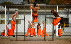 Inmates at Chino State Prison. Click image to expand.