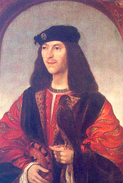 James IV, who's generally credited as Scotland's first Renaissance king, didn't assume the throne until four years after Rosslyn Chapel's founder died. Click image to expand.