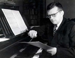 The Russian composer Dmitri Shostakovich. Click image to expand.