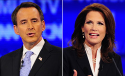 Tim Pawlenty and Michele Bachmann. Click image to expand.